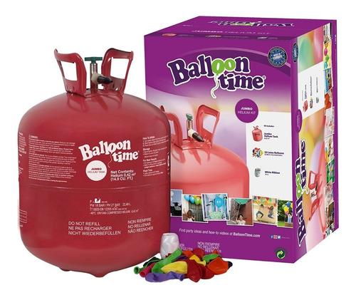 helio tanque gas para inflar bombas + 50 globos fiestas