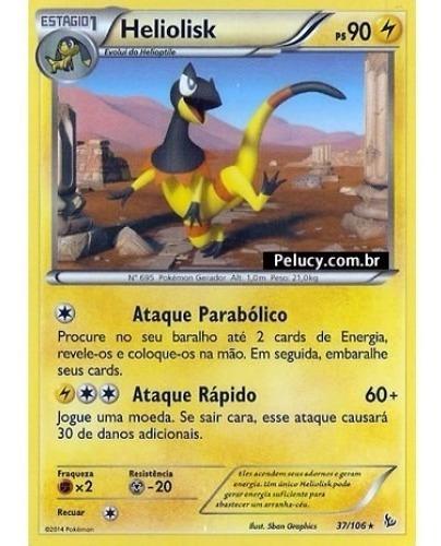 heliolisk - pokémon elétrico raro 37/106 - pokemon card game