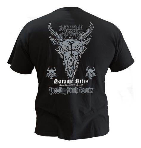 hell hammer satanic rites camiseta