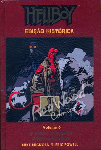 hellboy edição histórica  nº 06 - mythos - redwood