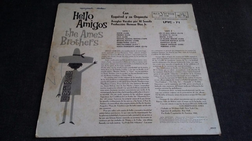 hello amigos the ames brothers en esp lp vinilo bolero jazz