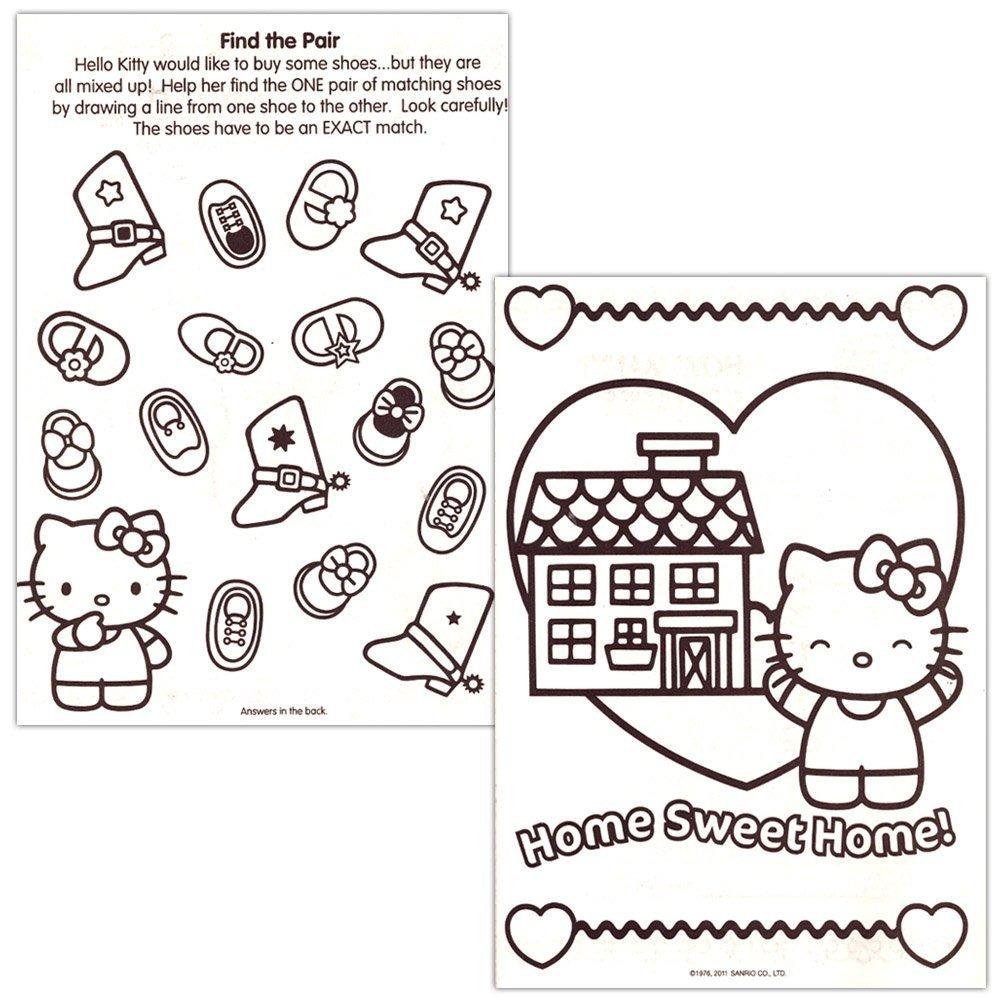 Hello Kitty 144 Página Para Colorear Y Libro De Actividades ...