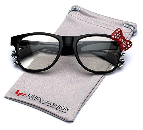 65cdf84a9 Hello Kitty Bow Womens Rhinestone Fashion Clear Lens Glasses ...