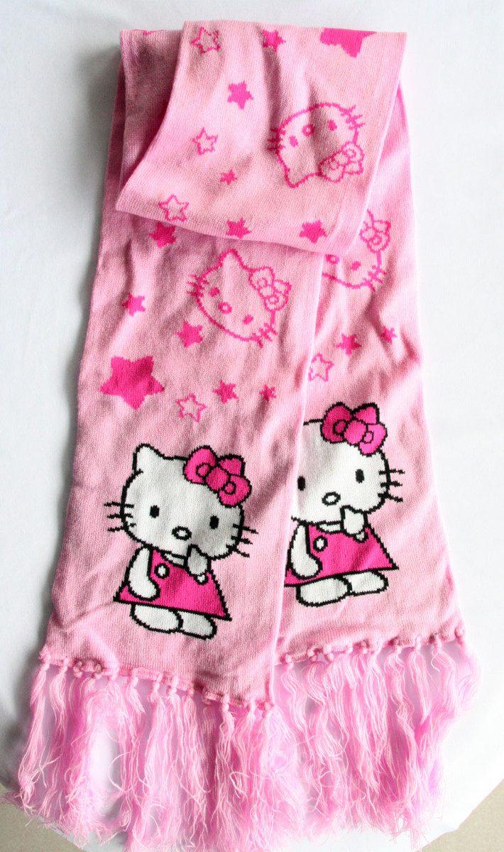 ajuste clásico 7f926 61605 Hello Kitty Conjunto De Gorro Y Bufanda Para Niña