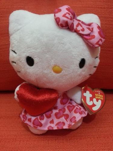 hello kitty coração pelúcia - sanrio - beanie babies