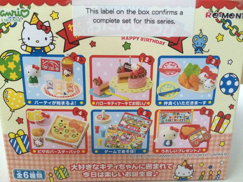 hello kitty happy birthday set exclusivo sanrio japon difici