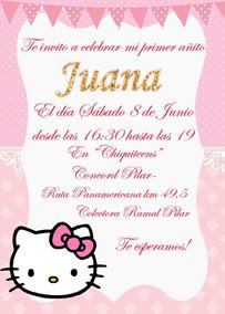 Hello Kitty Invitación Tarjeta Digital Imprimible Whatsapp