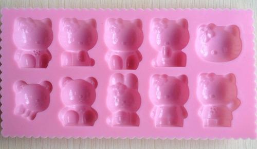 hello kitty molde d silicon chocolateria decoración fondant