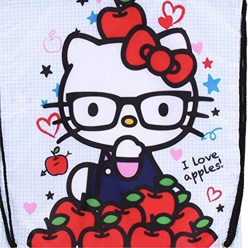 5b2934343f Hello Kitty Nerd I Love Mochila Con Cordón De Manzanas -   77.900 en ...