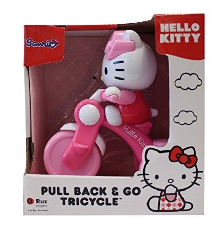 hello kitty pull back tricycle  envio gratis