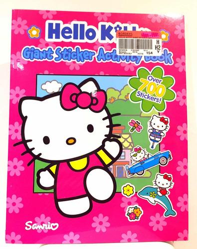 hello kitty sanrio libro con más de 700 stickers (nuevo)
