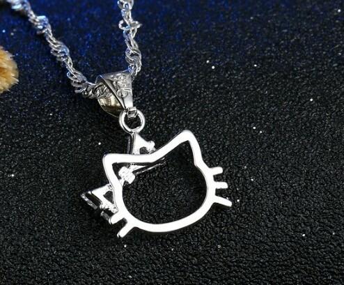hello kitty set collar + aretes, accesorios mujeres y niñas