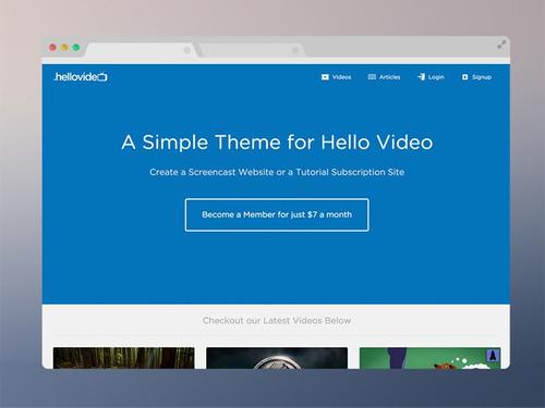 hello video - script pronto para site de videos