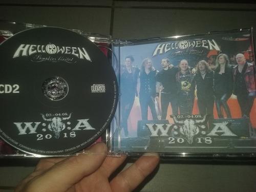 helloween cd duplo live wacken open air 2018 + suecia 2017