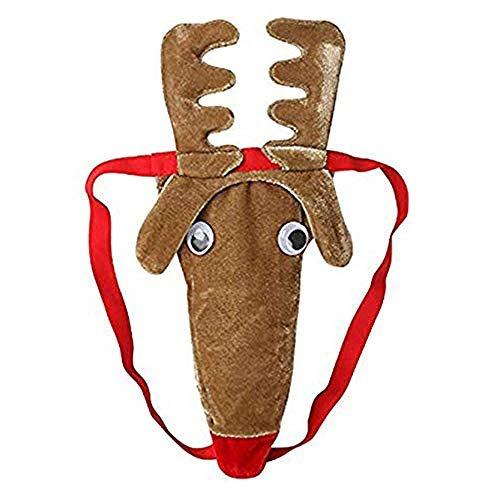 helury christmas gag gift sexy reindeer hombres tanga tanga
