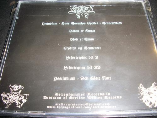 helvetespine - frykten og mennesket - cd black metal noruega
