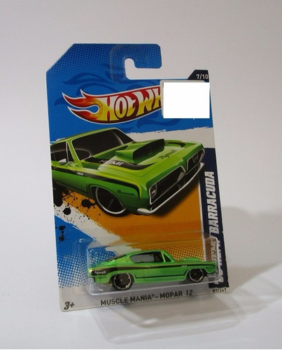 hemi barracuda escala 1/64 coleccion hot wheels 7cm largo