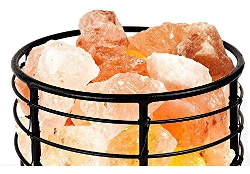 hemingweigh himalayan salt chips, lámpara en metal cilindro