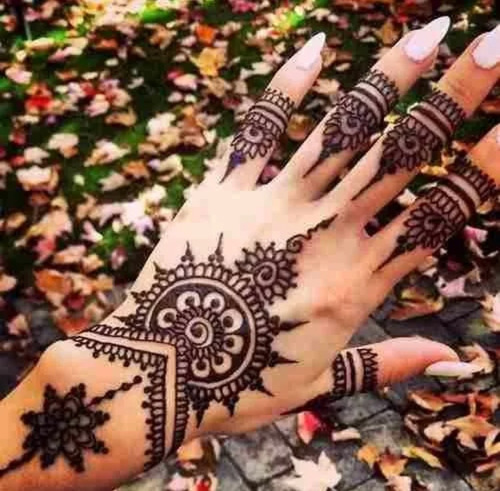 henna arabe golecha tatuaje 1 pieza