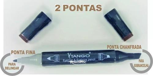 henna em caneta para sobrancelhas - preto tango t & g