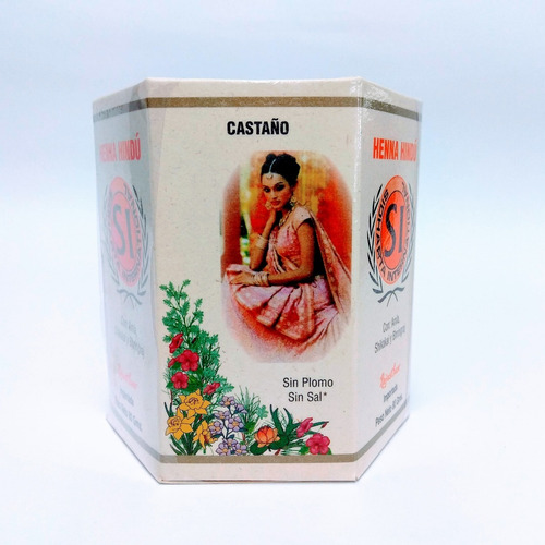 henna hindú tinte natural castaño 80gr