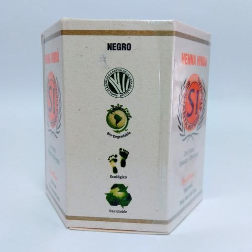 henna hindú tinte natural negro 80gr