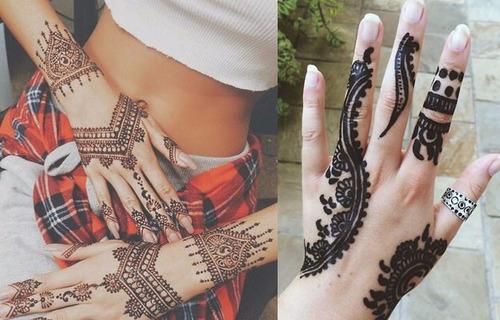henna negra 100% orgánica para tatuajes temporales