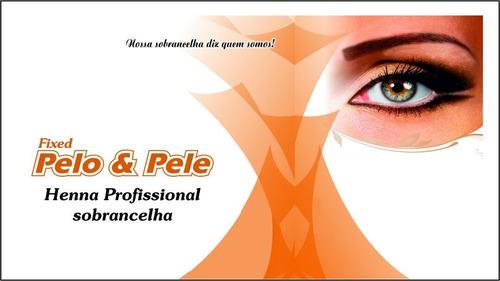henna p/ sobrancelha pelo & pele kit c/ 3 unid.