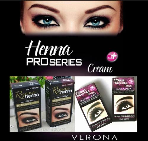 henna para cejas y pestañas café y negro