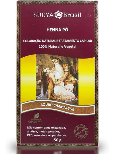 henna pó 50g louro champagne
