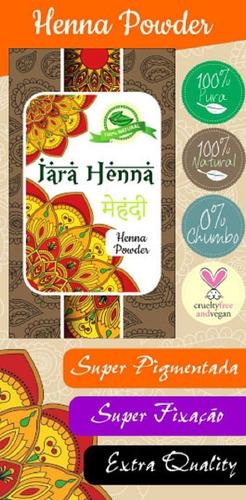 henna powder índia 3 packs de 100g - iara henna