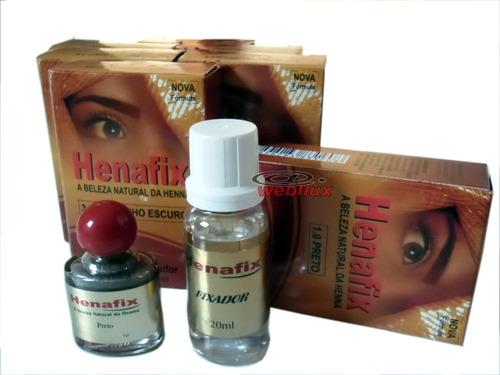 henna profissional henafix p/ sobrancelhas várias cores