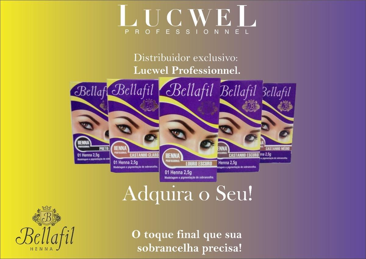 Henna Profissional Para Sobrancelha 2 5g Bellafil R 39 55 Em