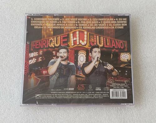 henrique & juliano - ao vivo em brasilia [cd] lacrado sertan