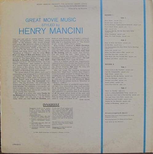 henry mancini - lp academy award songs (duplo) stereo imp.