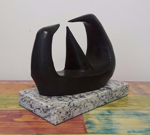 henry moore   tres puntos  escultura en bronce