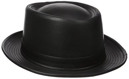 f75e9a25c0933 Henschel Hombres De Smooth Trajes De Cuero Porkpie Sombrero ...