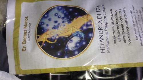 hepandrea detox. limpia hígado, vesícula, colon, parásitos.