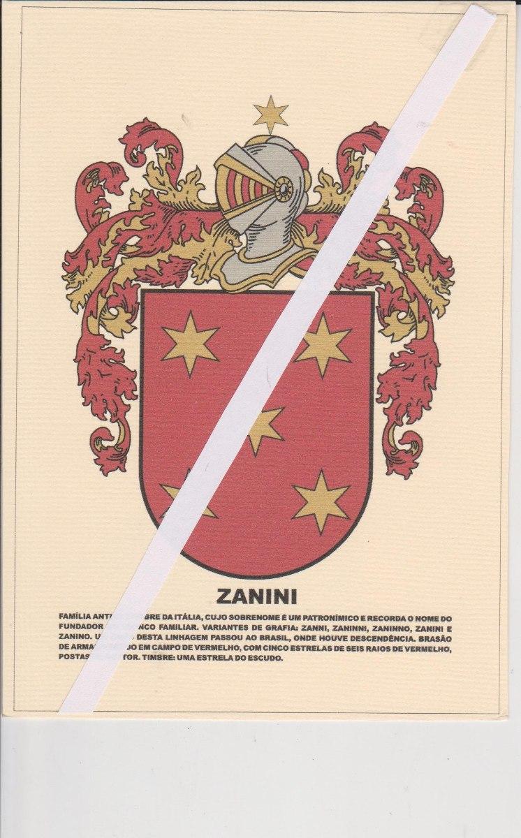 9ab8948e6 Heráldica   Brasão De Familia   Zanini - R  15