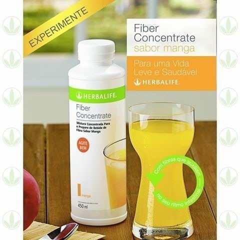 herbalife - kit 2 fiber concentrate - sabor manga ou uva