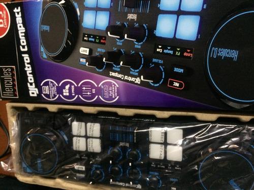 hercules djcontrol compact mixer mezcladora consola