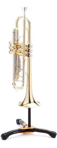 hercules ds510bb soporte para trompeta o corneta con funda