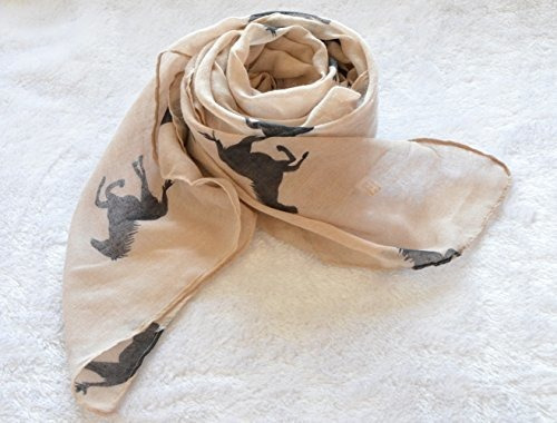 herebuy cool animal print scarf mujeres de moda bufandas par