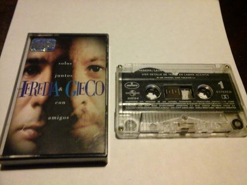 heredia gieco solos juntos y con amigos cassette nacional