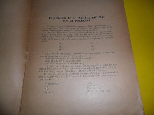herencia del factor rhesus en 72 familias 1946 m etcheverry