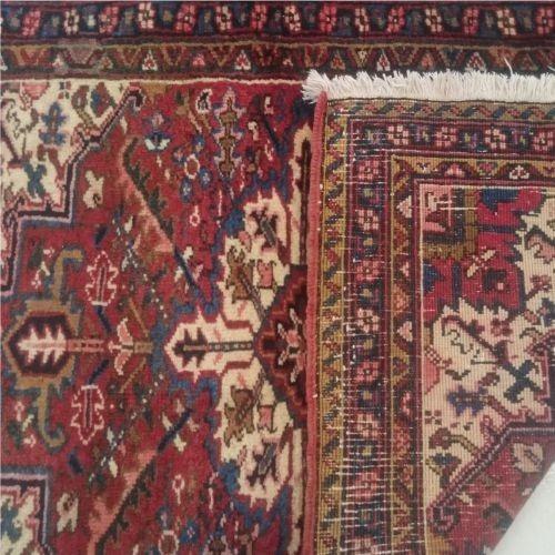 heriz 145x90cm artesanal legitimo tapete persa rustico