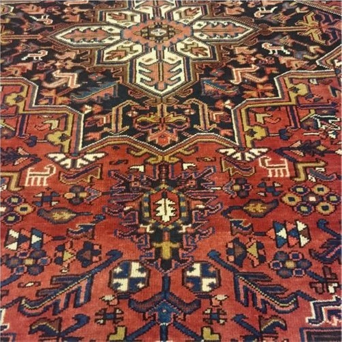 heriz 342x230cm artesanal legitimo tapete persa rustico