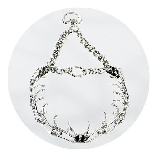 herm sprenger 3,2mm 58cm colar comado, com pinos anel d.