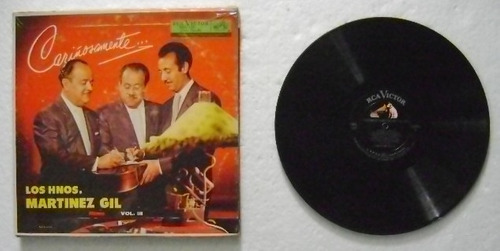 hermanos martinez gil / cariñosamente  1 disco lp vinilo