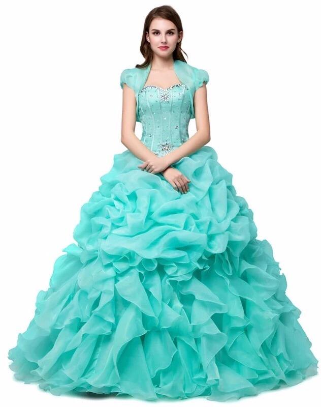 cfd1fb4512 Vestidos de quinceanera color verde menta – Vestido azul